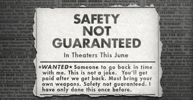 The classified ad at the crux of Safety Not Guaranteed