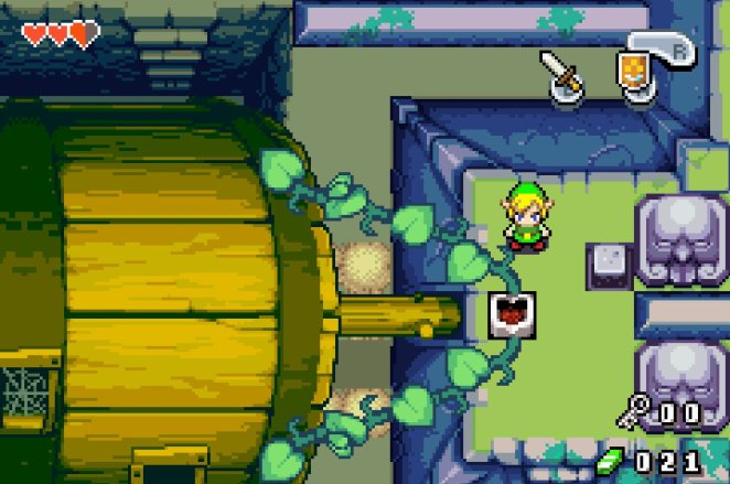 A simple puzzle from the first dungeon of Minish Cap