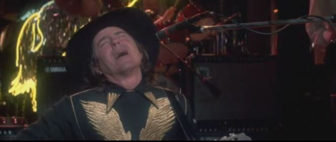 Elgart finishes singing his sad country song at the Rhinestone