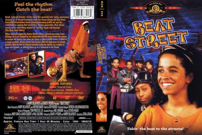 Movie cover and back cover for Beat Street