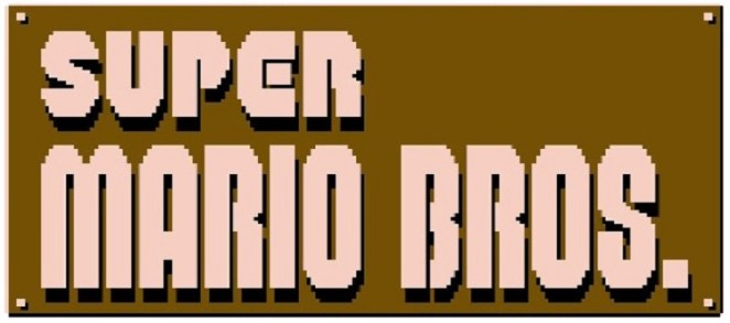 The Super Mario Bros. title screen logo