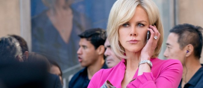 Gretchen Carlson on the phone outside looking unsettled