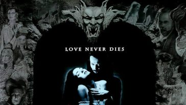 Bram Stokers Dracula poster featuring Dracula and Mina