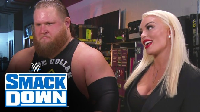 Otis and Mandy Rose backstage segment from Smackdown