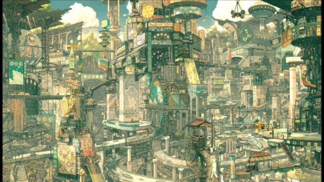 The sprawling metropolis of Tekkonkinkreet