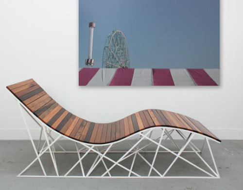 Roller Coaster Chair made from Coney Island Boardwalk planks via inhabitat.com