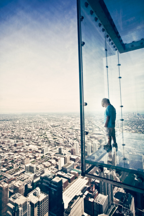 Sky Walker by Joey Kennedy Sears Tower Skydeck, Chicago, USA