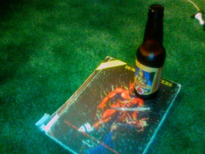 Using my AD&D Dungeon Masters Guide as a beer coaster—the same book I carried around with me everywhere when I was about 11 years old—amuses me to no end.