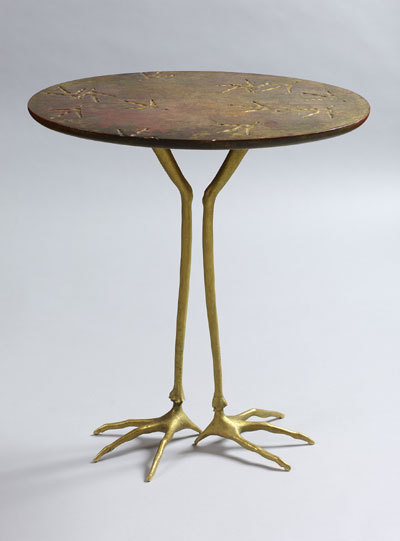 table with bird's legs by meret oppenheim, 1939.