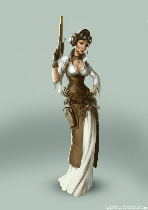 swashbuckling:  comicscavern:  Steampunk Leia FTW!  omg yes
