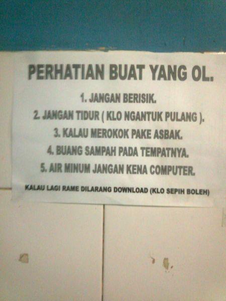 warnet yang….. ah no comment lah via KasKus KlanSamodra