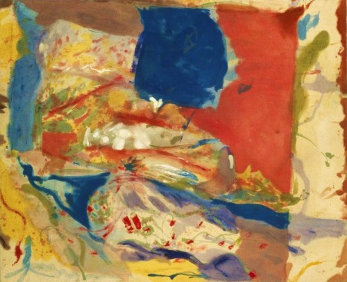 jessicajett:</p><p>Lorelei by Helen Frankenthaler, 1957. Oil on Canvas.<br />