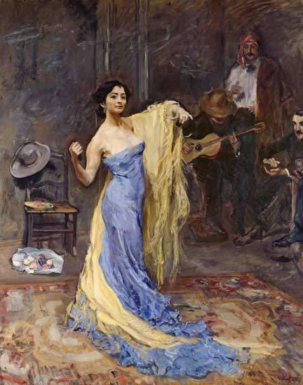 <br /> Max Slevogt - Portrait of the dancer Marietta di Rigardo<br />
