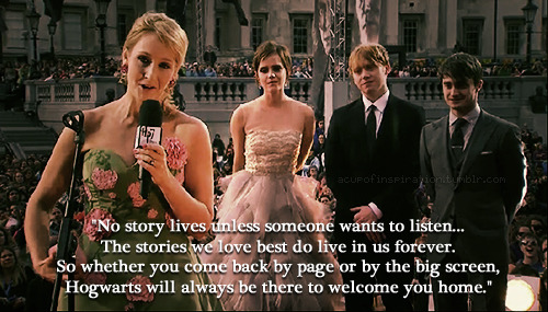 'Hogwarts will always be there to welcome you home'brb sobbing