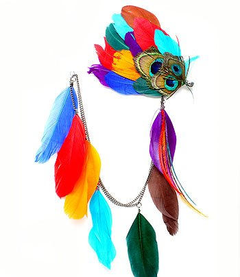 One of a kins Feather earrings!! Won't see another HAWTies n them! Shop@ http://www.urbanclassboutique.com/