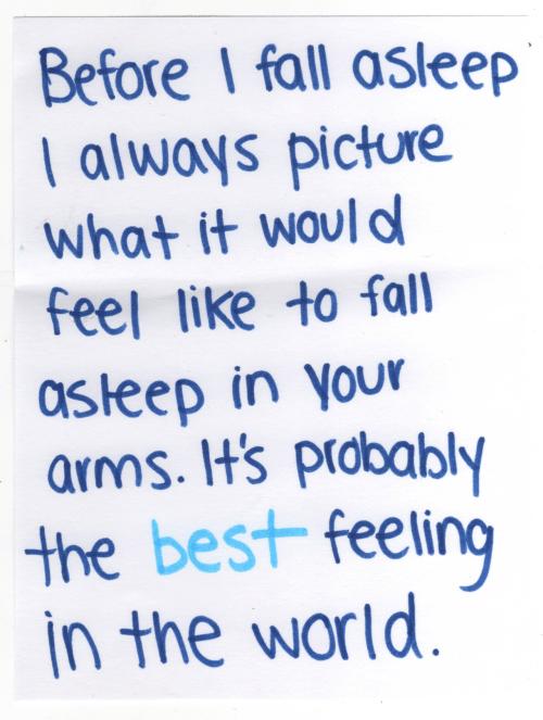 dormirme en tus brazos