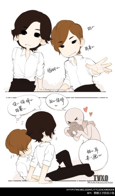 120411 Hanakousagi FRaU fanart with translation  Photographer: Good~ One more~ very good~ Photographer: Good~ amazing~ yeah just one more~ TVXQ!: …th..is…pose…is so…difficult…to maintain…  …something like that? lol