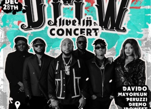 Davido announce DMW Live concert to happen in Lagos Eko hotel.