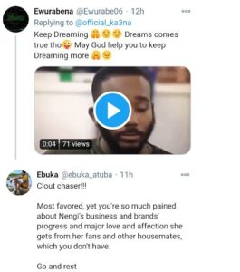 Nigerians Drag Ka3na For Declaring Herself The Most Favoured Ex-housemate