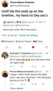 """Until the DM ends on the timeline""""- Prince reacts to Laycon's old tweet from 2017"""