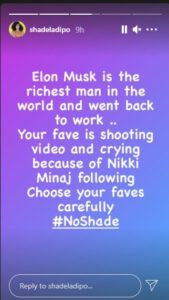 """""""The world richest man returned to work, but your fav is crying because Nicki Minaj followed her"""" – Shade Ladipo shades Tacha"""