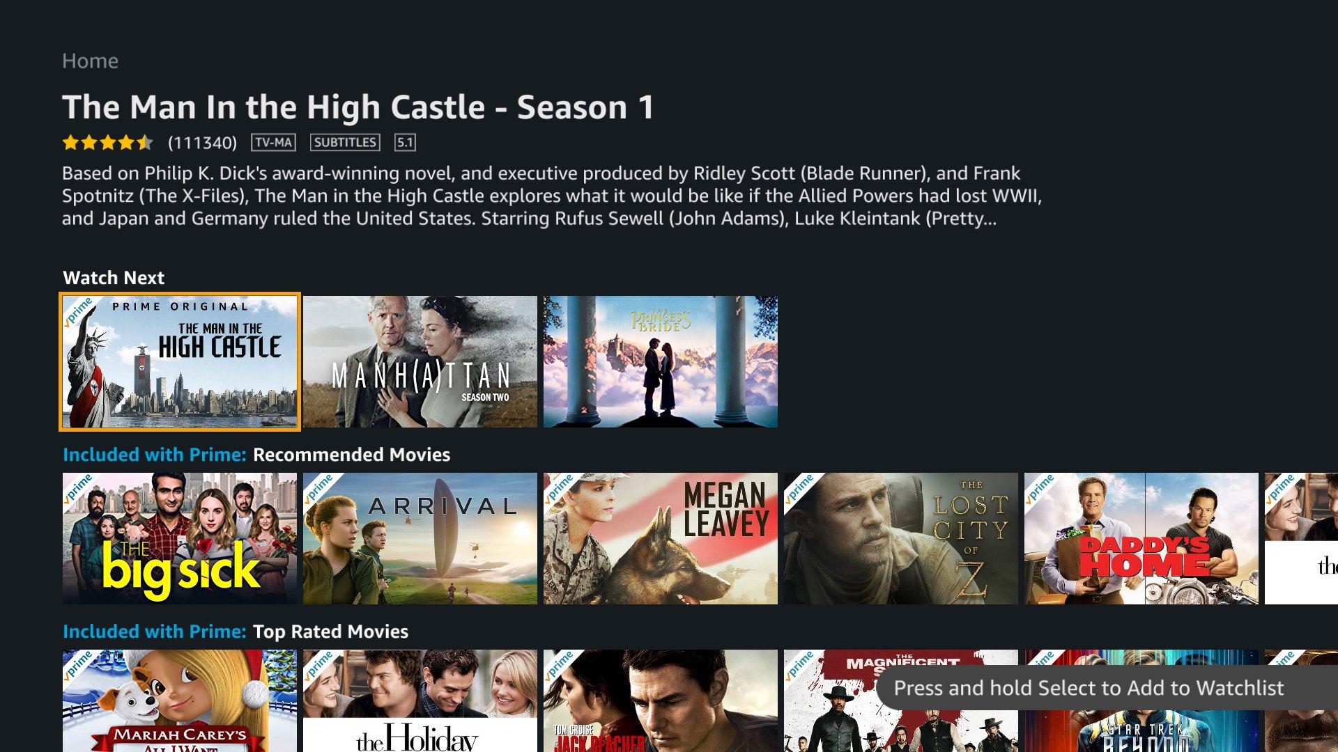 Amazon Prime Watchlist