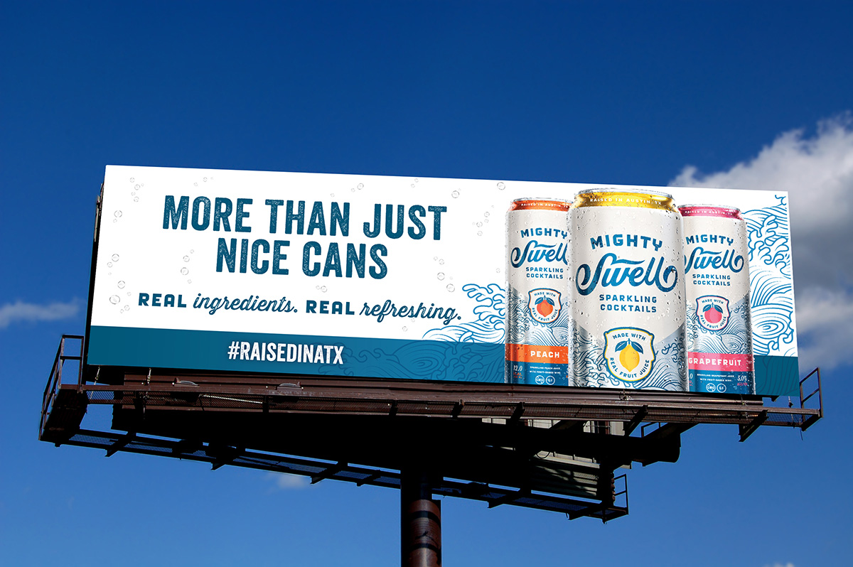 Mighty Swell Cocktails Billboard Design Envision Creative