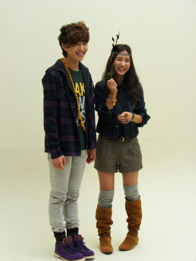 with Onew (SHINee's leader) for Clride.N
