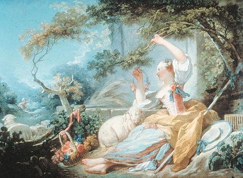 c. 1752. Shepherdess by Jean-Honoré Fragonard.