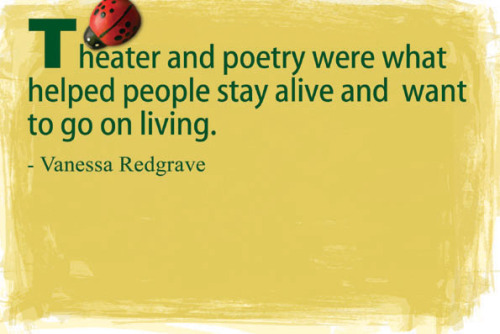 theatre and poetry