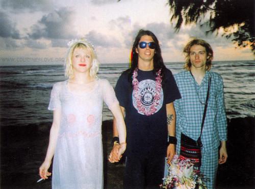 Courtney, Dave, and Kurt