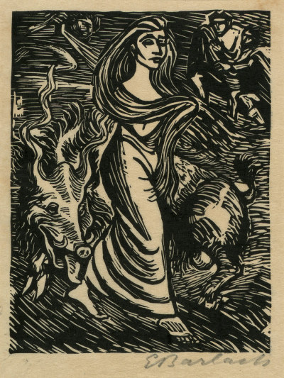 Walpurgisnacht, a 1923 woodcut by Ernst Barlach (1870-1938)
