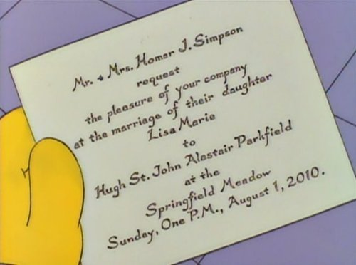 Lisa Simpson is Getting Married Sunday