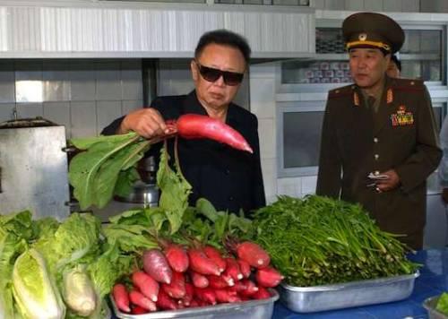 looking at a radish