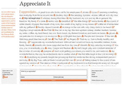 StreamingGratitude! see & share the things we most appreciate! Appreciate it. [viatexturism:thegooglymoogly]