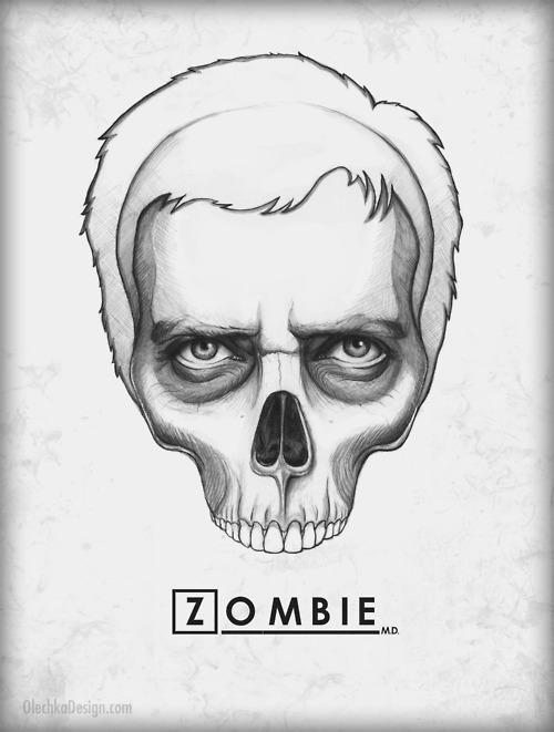 House ZOMBIE MD art by olechka More House themed zombie drawings on his tumblr Submitted by rtlstuff