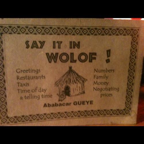 Wolof Phrasebook