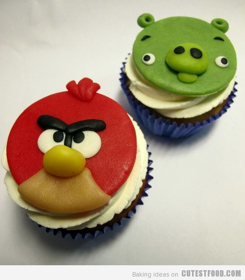 Angry Birds muffins