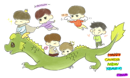2PM&HOTTESTS ^^plz fly to the happiness!!happy chinese new year!