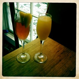 mimosa and blood orange juice