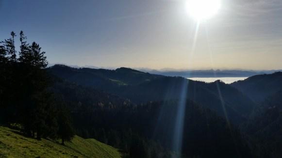 The Walensee still under the fog