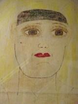 Lee Godie pillowcase face