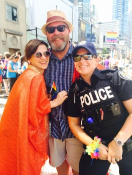 with Lori and a friendly policewoman