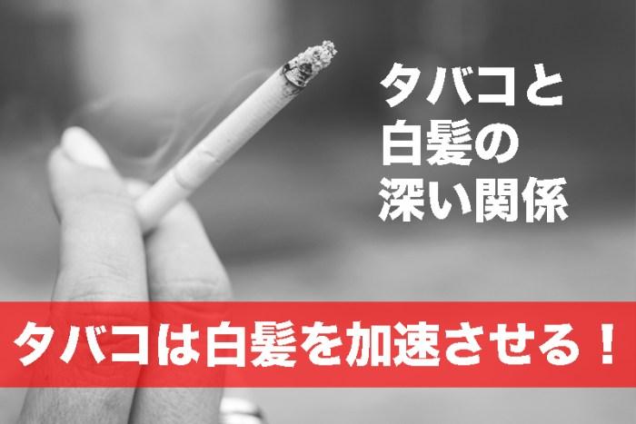 【タバコと白髪の深い関係】個人差はあるが、タバコは白髪を加速させる!