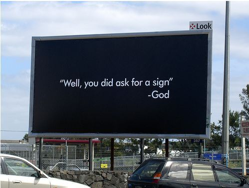 god's quote, sign