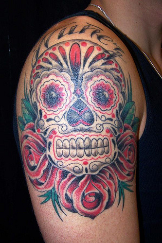 Mexican Skull Tattoo Design, originally uploaded by WyoHDRider