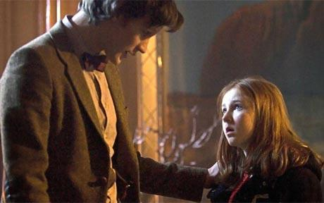 The Doctor and young Amy Pond