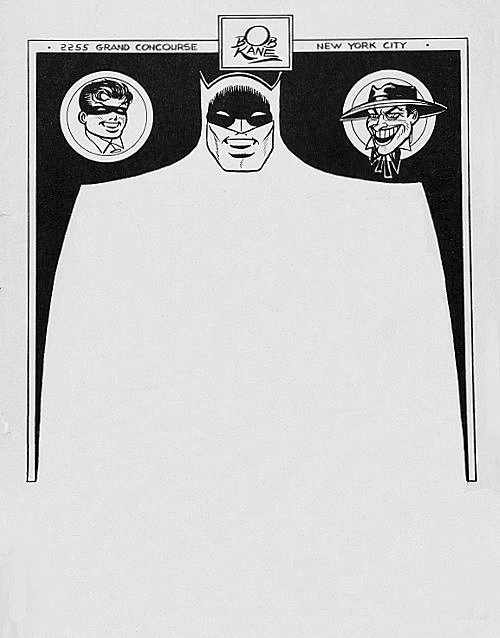 Bob Kane, date unknown | Submitted by Jason P. Letterhead used by the late-Bob Kane, creator of Batman.