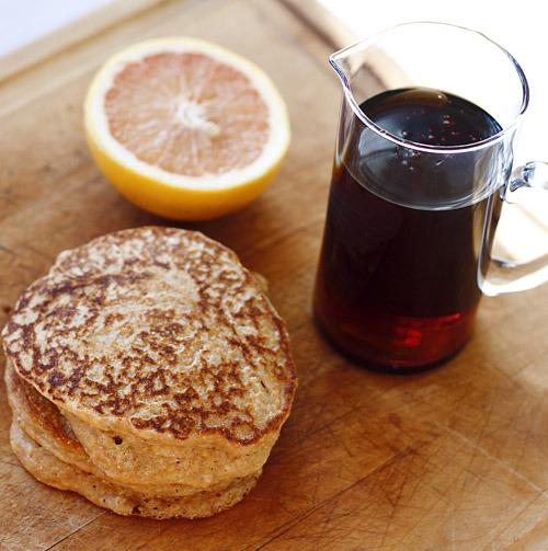 (via The Nesting Project: Whole Grain Buttermilk Pancakes)