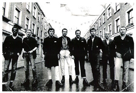 skinhead style in late 60's london.